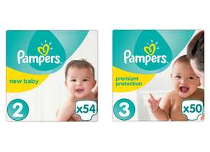 Pampers New Baby Size 3 x50 / Pampers New Baby 2 x54 Nappies for £2.40 per pack with PYO @ Waitrose (~5p per Nappy)