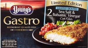 Young's Gastro Limited Edition 2 Lightly Dusted Sea Salt & Balsamic Vinegar Cod (75%) Fillets (230g) was £4.00 now 2 Packets for £5.00 @ Iceland