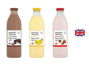 Essential Chocolate, Banana or Strawberry Flavoured Milk 1L for 65p @ Waitrose