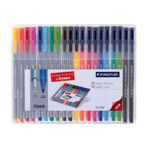 Staedtler Triplus Colour and Fineliner Pack of 20 - £9.49 @ Ryman stationary