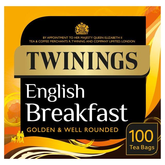 Twinings English Breakfast Tea Bags (100) was £5.00 now £2.50 @ Ocado