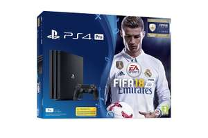 PlayStation 4 Pro + FIFA 18 Ronaldo Edition £379.99 + £3.99 p&p @ Very