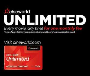 FREE month of Cineworld Unlimited