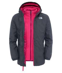 Girls NORTH FACE Eliana Rain Triclimate Jacket - Graphite Grey £48.94 (Free C&C) @ Taunton Leisure