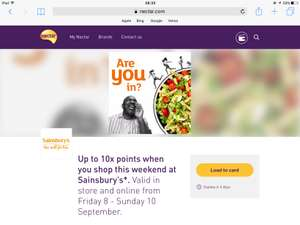 10xNectar Points at Sainsburys From 8th  - 10th Sept