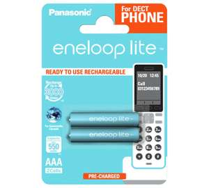 Panasonic Enloop Lite 550 mAh Rechargeable Batteries AAA - 2 Pack. £2.49 @ Argos