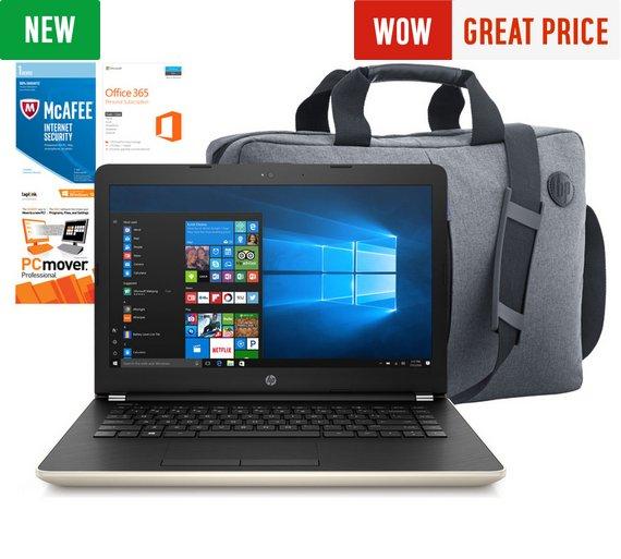 HP 14 Inch Intel Pentium 4GB 128GB SSD Laptop Bundle - Gold £299.99 / 256GB - Grey £349.99 @ Argos