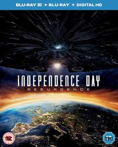 Independence Day Resurgence 3D Blu Ray £9.99 or 2 for £25 at Zavvi