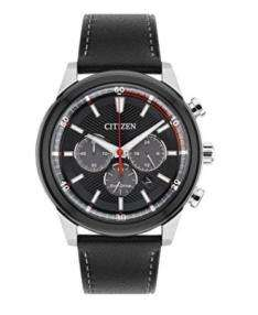 Men's Citizen Watch - Solar Powered with Black Leather Strap £84.76 **Now £76.70**  @ Amazon