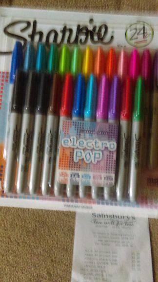 Sharpie 24 fine point permanent marker pens - £3.90 instore @ Sainsburys, Grantham.