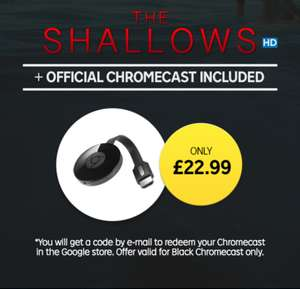 The Shallows HD movie + Google Chromecast £22.99 / The Shallows HD movie + Roku Streaming Stick £27.99 @ Rakuten TV