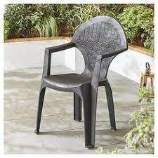 Dream Resin Dark Grey Garden Chair £5: CLICK&COLLECT TESCO DIRECT