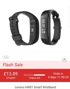 Lenovo HW01 Smart watch @ Gearbest for £13.89