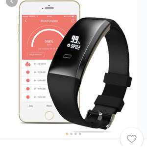 WP101 OLED Blood Pressure SpO₂ Heart Rate Health Monitor Sport Tracker Smart Bracelet Android IOS at Banggood for £10.45