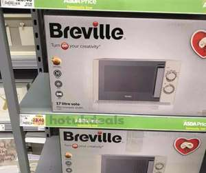 breville 17l microwave stainless steel reduced to £23.40 Asda hull