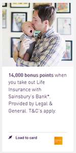 14,000 Nectar Points (worth £70) for taking out Life Insurance with Sainsbury's Bank. (min. £5/month)