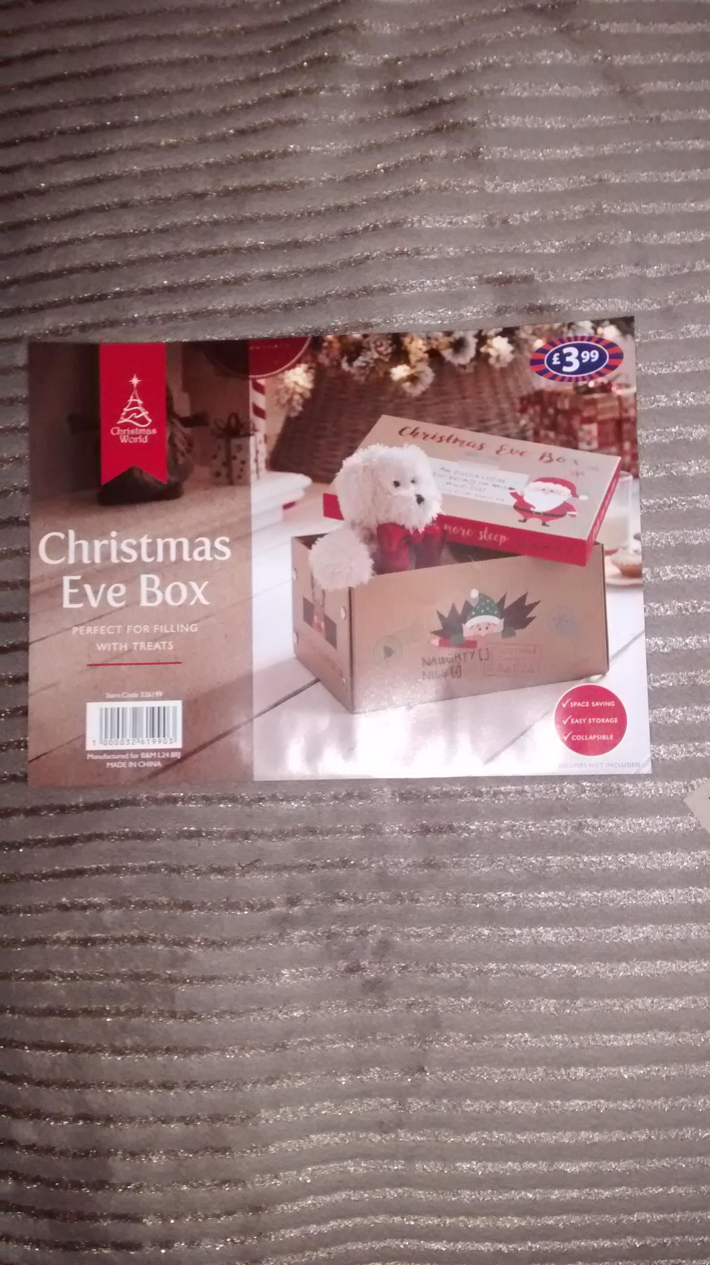 Xmas Eve box £3.99 instore @ B&M
