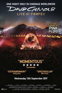 Pink Floyd's David Gilmour Live In Pompeii Concert in Cinemas 1 night Only