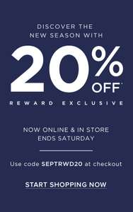 20% OFF @ MONSOON/ACCESSORIZE