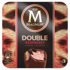 Magnum Double Ice Cream (Raspberry, Coconut, Chocolate, Peanut Butter, Caramel) Multi-pack of 3 for £2.00 @ Asda