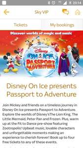 FREE Disney on Ice tickets for Sky VIP customers.