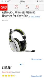 Astro A50 Wireless Gaming Headset for Xbox One £112.99 - Argos