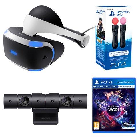 PlayStation VR Headset + Camera + Move Motion Twin Controller + VR Worlds £399.99 @ Amazon & Smyths Toys & Tesco Direct / PlayStation VR Headset, Camera, VR Worlds £349.99 @ Smyths Toys & ShopTo & Argos & Tesco Direct