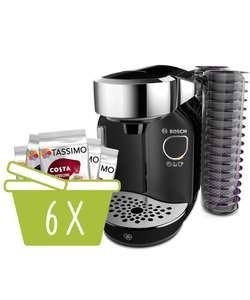 Tassimo T70 Brewer Caddy machine (White or Black) and 6 packs of drinks - £89