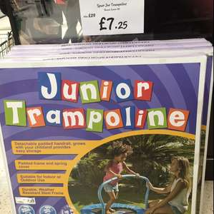 Asda Junior Trampoline now only £7.25 instore