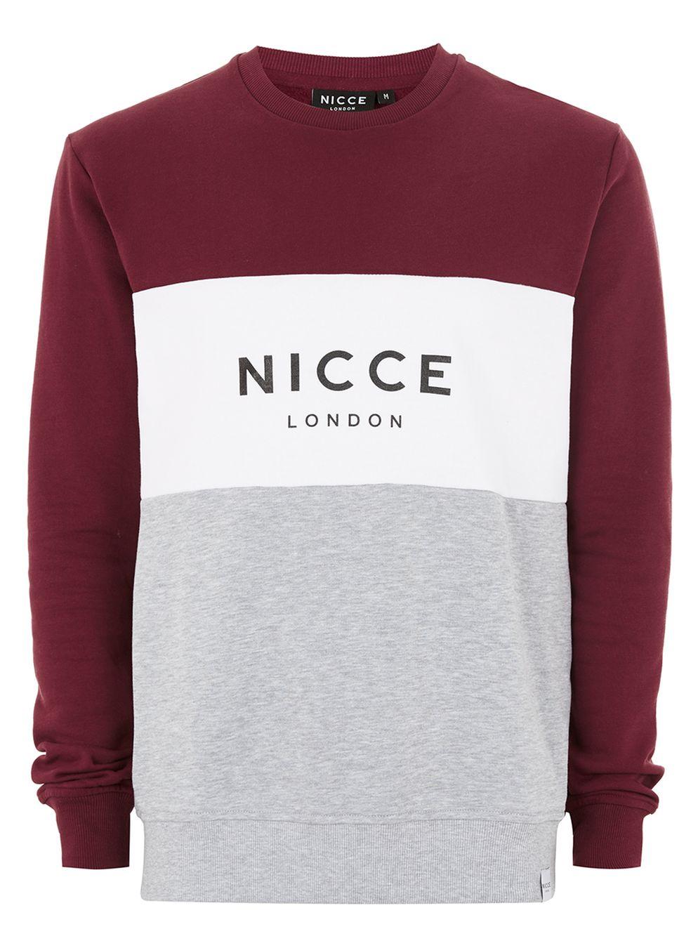 NICCE mens Sweat shirt £7 was £45 (free C+C) @ Topman