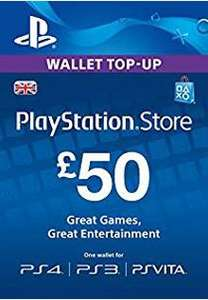 Playstation Network pre paid gift code £50 for £44.99 @ Electronic first