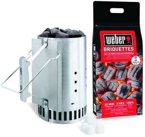 Weber chimney starter pack with 2kg coals and 6 lighter cubes £14 @ B&Q in store @ Torquay