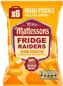 ​Mattesons Fridge Raiders Slow Roasted Mini Chicken Bites (6 Packs = 150g) was £2.50 now £1.25 (Rollback Deal) @ Asda