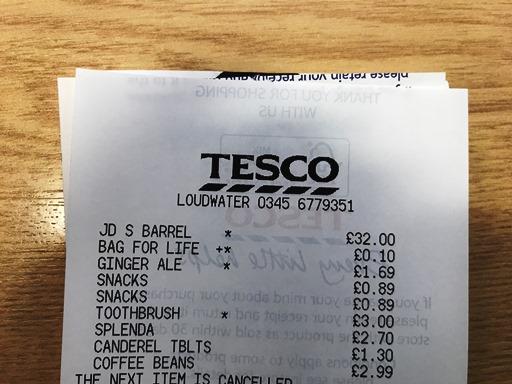 Jack Daniel's Single Barrel 70cl £32 at Tesco - Loudwater