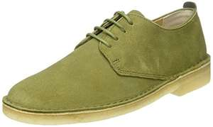 Clarks Originals Men's Desert London Derbys, Green (Olive Suede) (UK 7.5/8.5/9/10/10.5) £25.50 @ Amazon