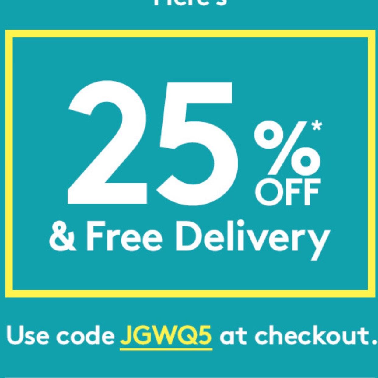 Jacamo 25% off + free delivery!