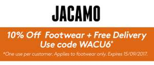 10% off footwear + free delivery