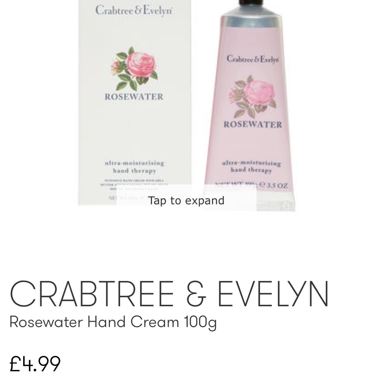 CRABTREE & EVELYN Rosewater Hand Cream 100g £4.99 instore @ TKMaxx