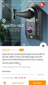 Outdoor IP camera / light - £29.99 @ BangGood