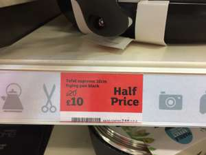 Tefal supreme 32cm frying pan - £10 @ Sainsbury's
