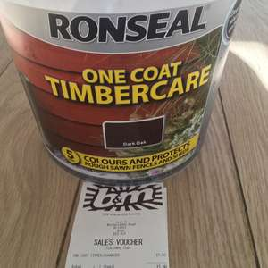 Ronseal One Coat Timbercare - £1.50 instore @ B&M (Bedminster)