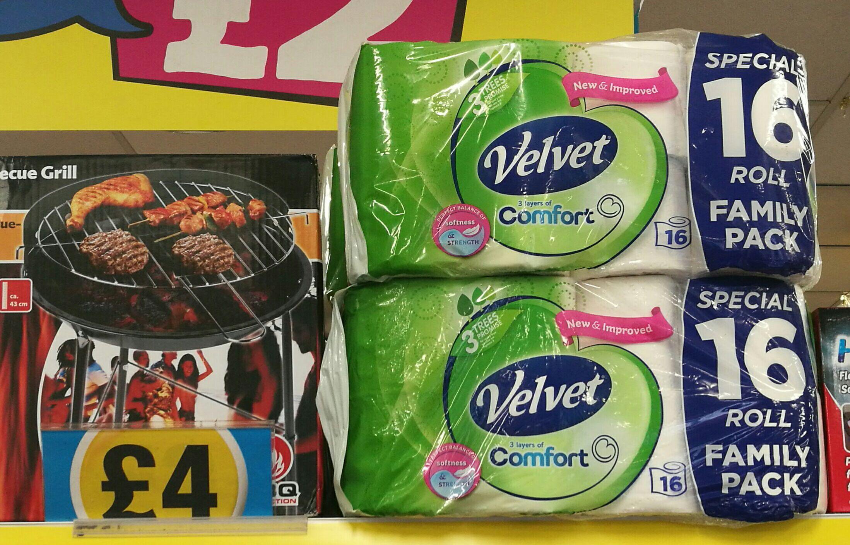 Kleenex Velvet 16 rolls £4 @ Poundland