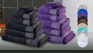 7 piece Egyptian cotton towel bundle - £14 (plus £5.99 del) @ GoGroopie
