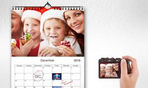 Personalised 12 page A4 sized Ready to Mount Wall Calendars from Printerpix- Groupon- £2.99 + £3.99 P&P