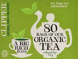480 Organic Clipper green tea bags for £7 add on @ amazon