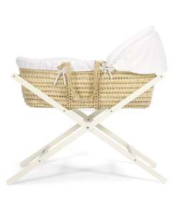 Mamas & Papas Moses Basket Stand (Classic) (Used like new) - Ivory was £29.00 now £19.29 (Prime) £24.04 (Non Prime) @ Amazon Warehouse