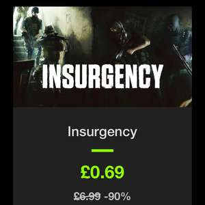 Insurgency - 69p - Steam key - Bundlestars - 90% off