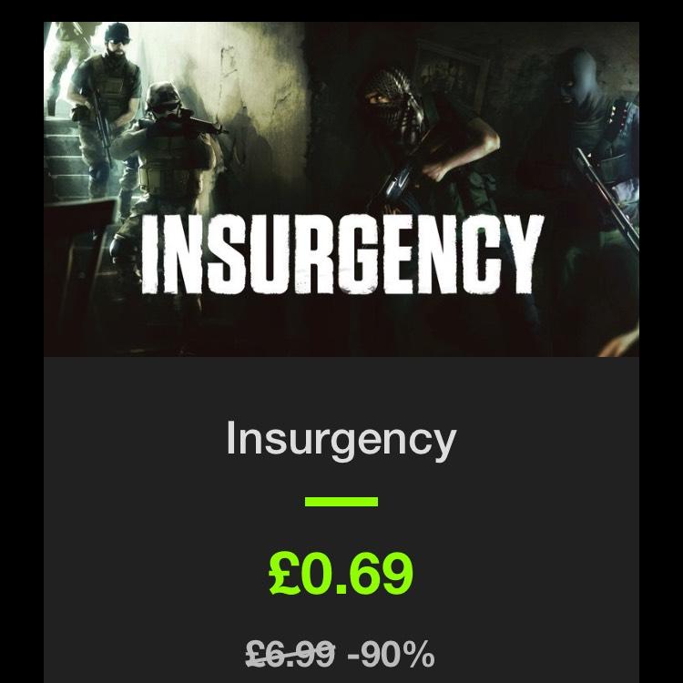 Insurgency - 69p - Steam key - Bundlestars - 90% off