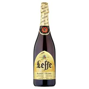 Leffe Blonde Beer (750ml) 20% off on 4 or more Single Beer and Ciders was £3.00 now £2.40 per bottle so buying 4 makes the total amount of the deal £9.60 @ Tesco