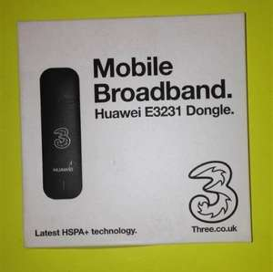 3 network Huawei E3231 mobile Dongle with 3G loaded Payg John Lewis sale £2.50